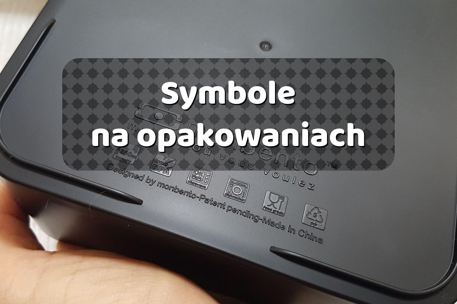 Symbole na plastikowych opakowaniach