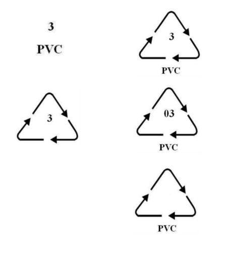 Symbol PVC (dopuszczone warianty)