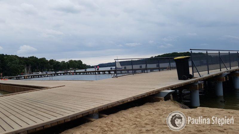 Plaża miejska nad jez Czos