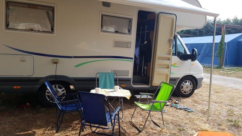 Nasz kamper i miejsce na śniadanie