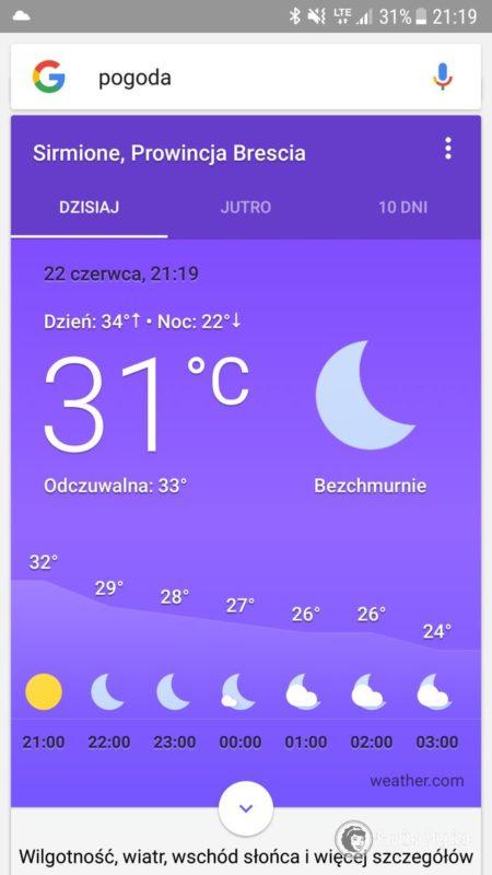 Temperatura wieczorem, dlatego też dzieci zasypiały w namiociku plażowym i dopiero około północy do kampera