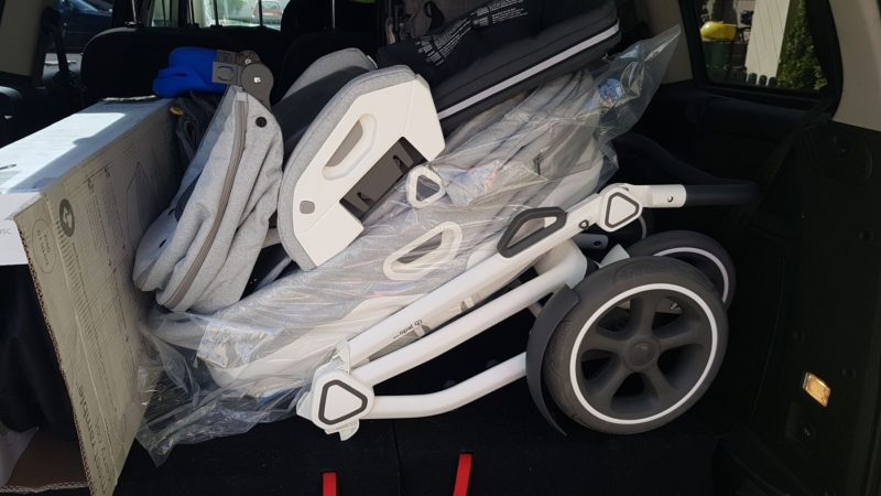 Wózek w bagażniku