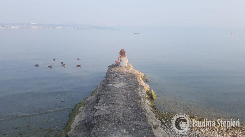 Poranek nad jeziorem Garda, cudownie!