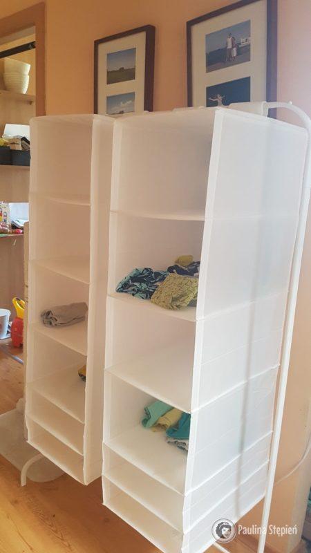 A to nasza tymczasowa szafa w domu, gotowa na rozkręcanie aktualnych