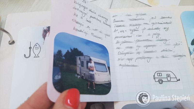 I otwierane karty, które pozwalają mi zmieścić znacznie więcej treści, ale również zdjęć