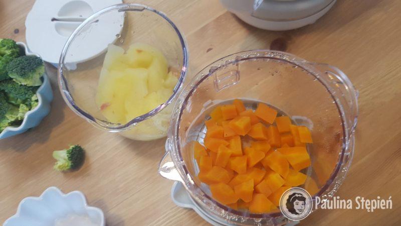 I gotowa marchewka i jabłko