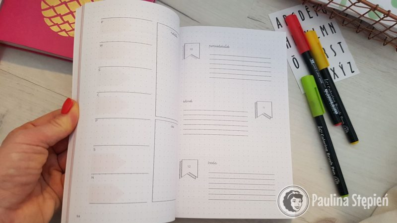 Tutaj przykłady, jak można graficznie zaplanować różne elementy planera