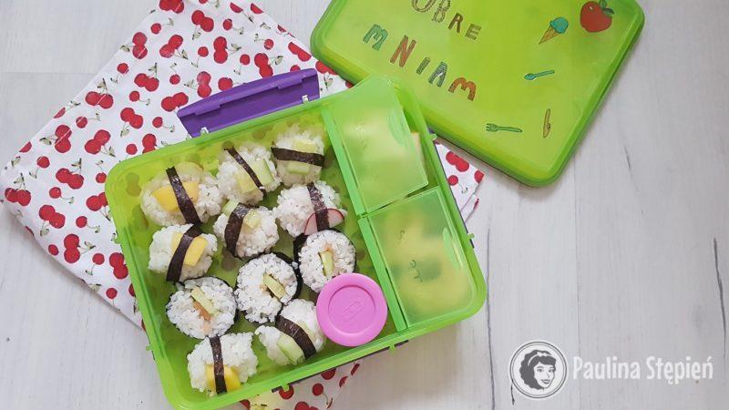 A tutaj z sushi dla dzieci