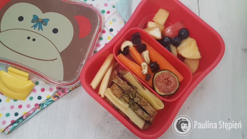 Przykładowe wypełnienie tego lunchboxa kanapkami