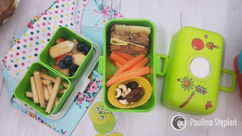 Owoce, przekąski, kanapka, warzywa