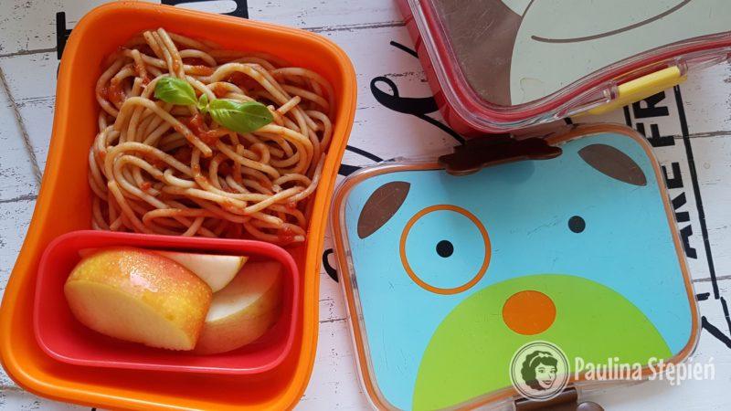 Tutaj całe danie obiadowe, czyli spaghetti