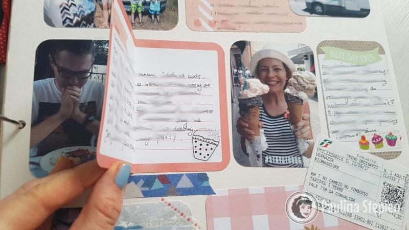 Otwierane karty na zapiski lub sekretne zdjęcia