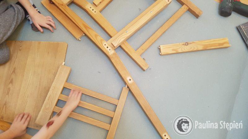 Rozkręcanie krzeseł