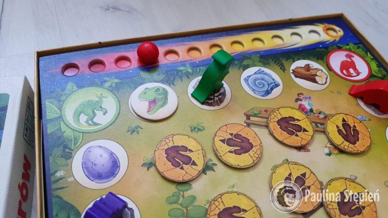 Drewniane dinozaury, plansza