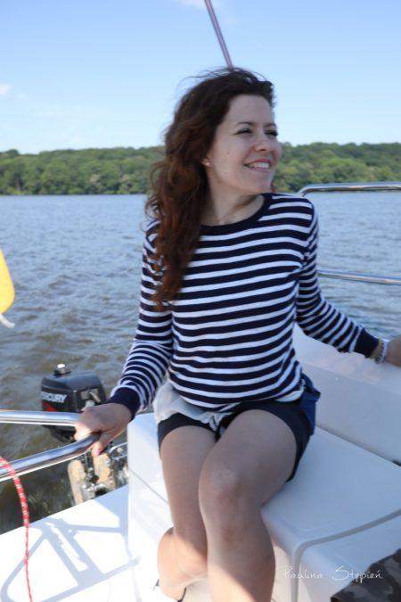 Podczas żeglowania, ha, sterowanie jest super