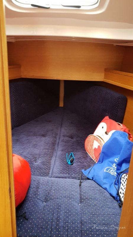 A to kabina, gdzie spały dzieci, ona jest na dziobie
