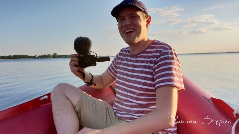 Michał, który uwieczniał chłopców na naszym prywatnym filmie :)