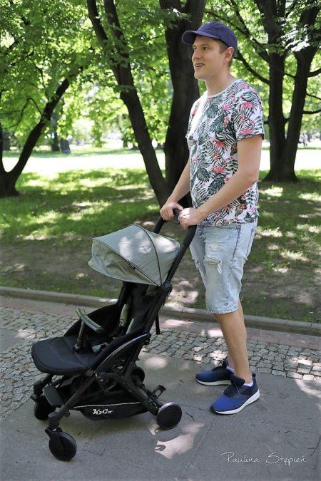 Tutaj Michał z wózkiem Kekk k2go plus