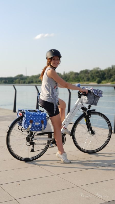 Jestem zachwycona rowerem i tymi naszymi rodzinnymi wycieczkami, to nie są wielkie odległości, ale dają nam niesamowitą radość