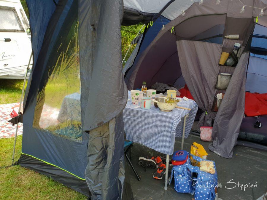 Kawałek naszego namiotu