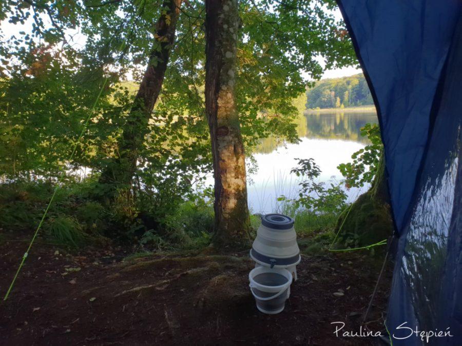 Widok o poranku z naszego namiotu