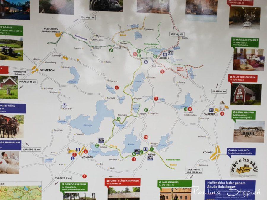 Mapa okolicy gdzie się zatrzymaliśmy
