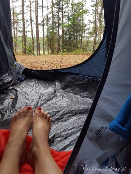 Zawsze marzyło mi się takie zdjęcie z namiotem, jeziorem