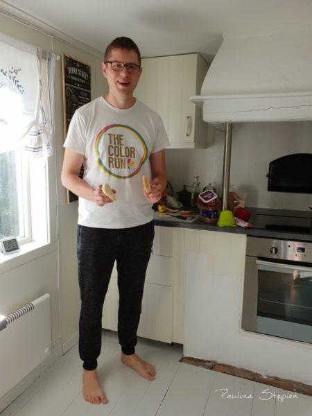 Michał w kuchni