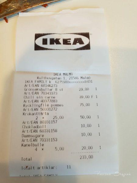 Paragon z Ikea, podziel na dwa plus minus