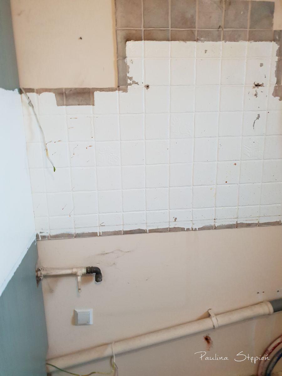 Ślad po ścianie w kuchni
