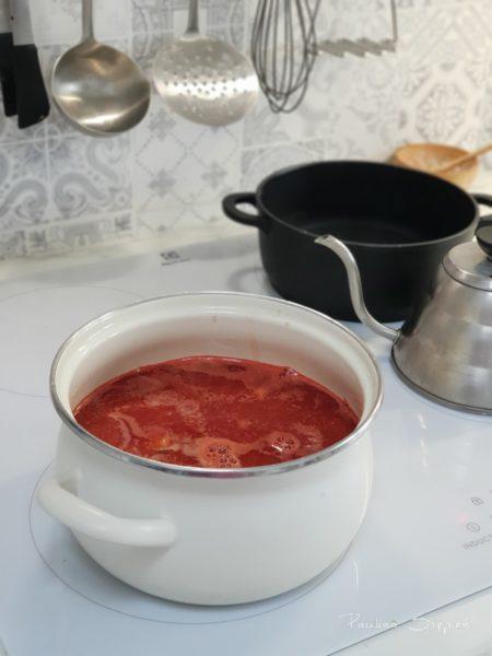 I w końcu nasza płyta oraz pierwsza pyszna pomidorowa zupa na nowej kuchence