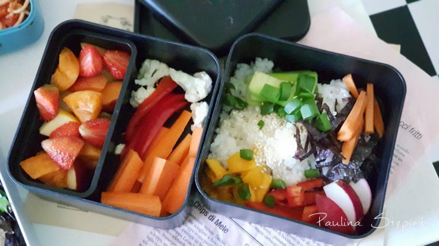 Tutaj prócz warzyw jest też sushi bowl
