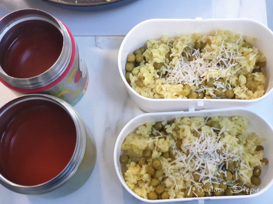 Tutaj akurat danie dla dzieci, risotto