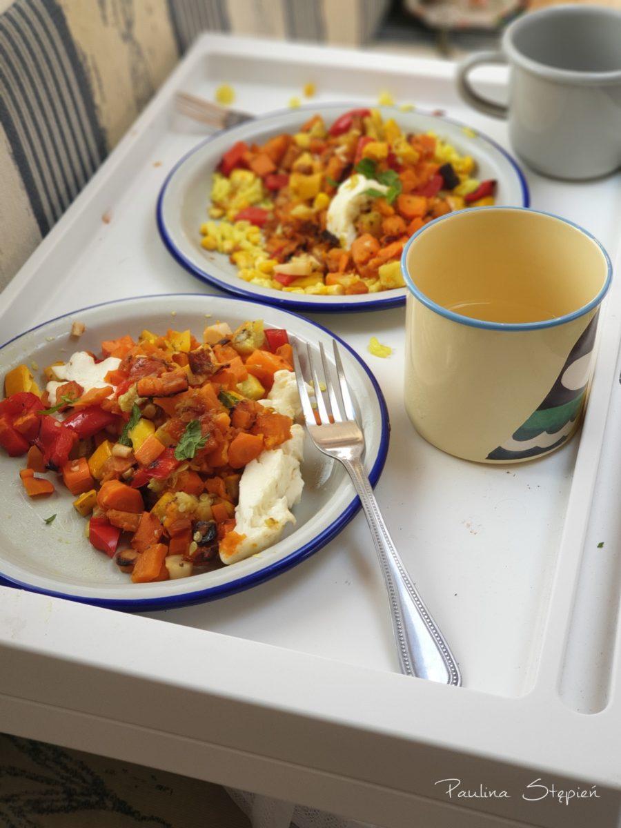 Obiad, czyli pieczone warzywa