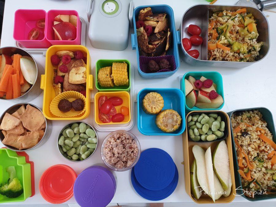 Własne lunchboksy, tutaj dla całej naszej piątki
