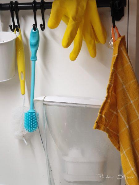Myjka do butelek, termosów, rękawica wielorazowa, szmatki