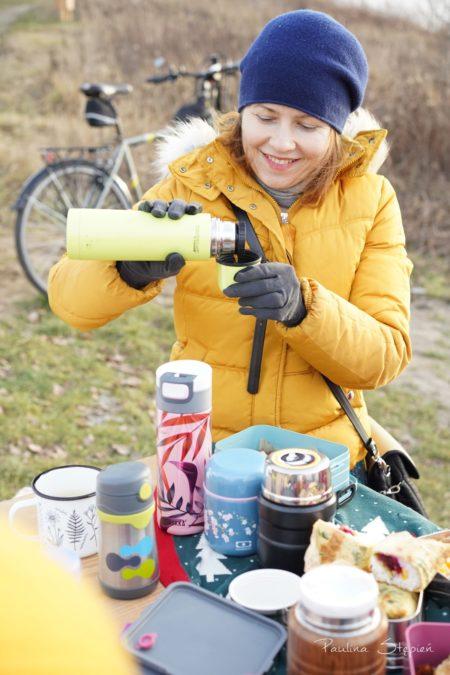Na naszych rowerowych wyjściach i innych wycieczkach zawsze mamy herbatę