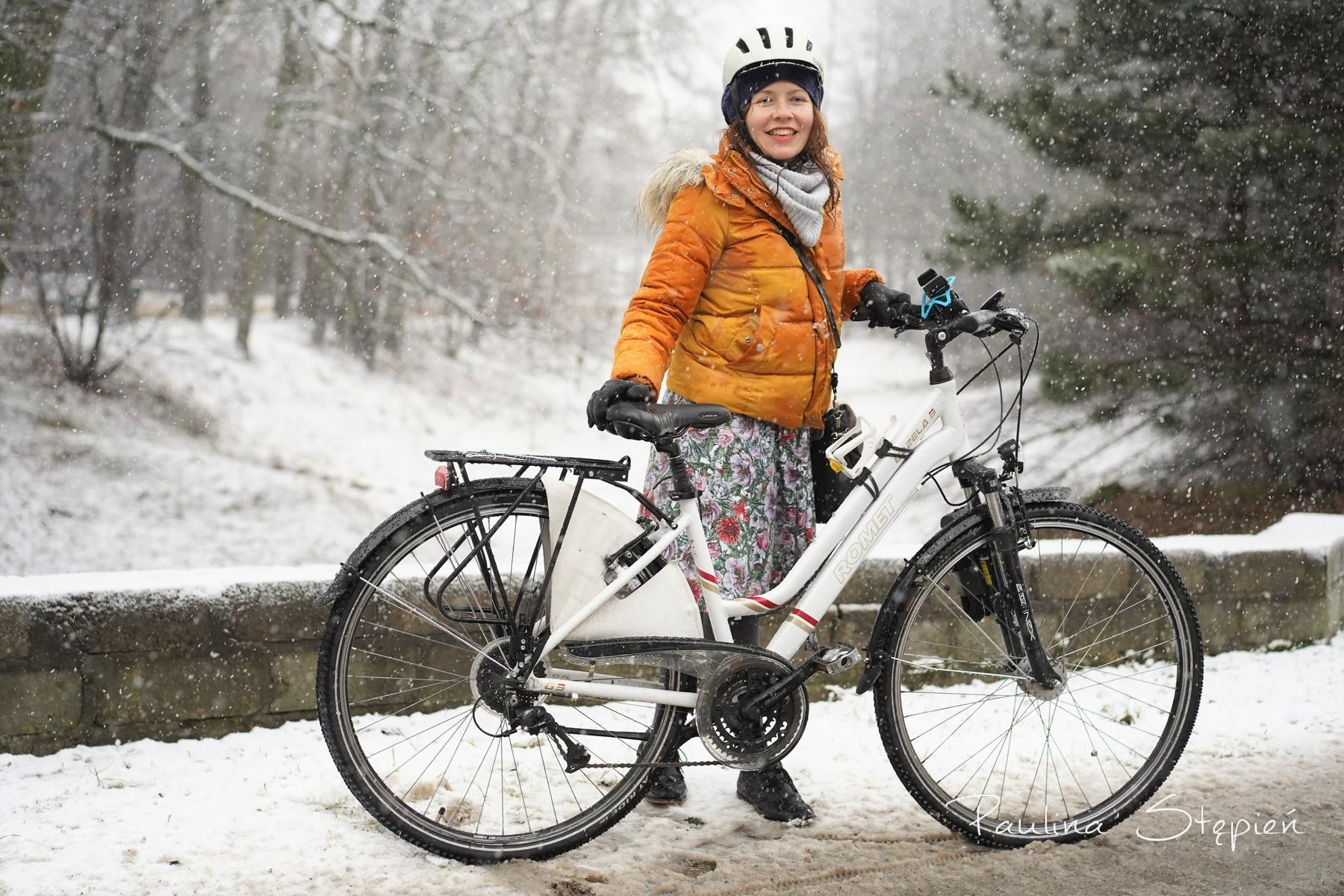 Rower zimą