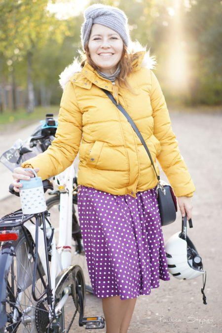 A tu jesienią w drodze na nasz jesienny piknik rowerowy
