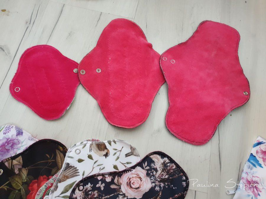 Różne wielkości podpasek, mini, midi i nocne
