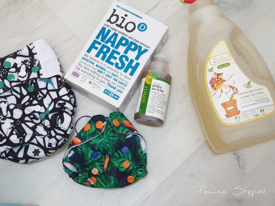 Do prania warto wybrać proszek lub płyn, a także mydełko galasowe i nappy fresh lub innych środek odkażający