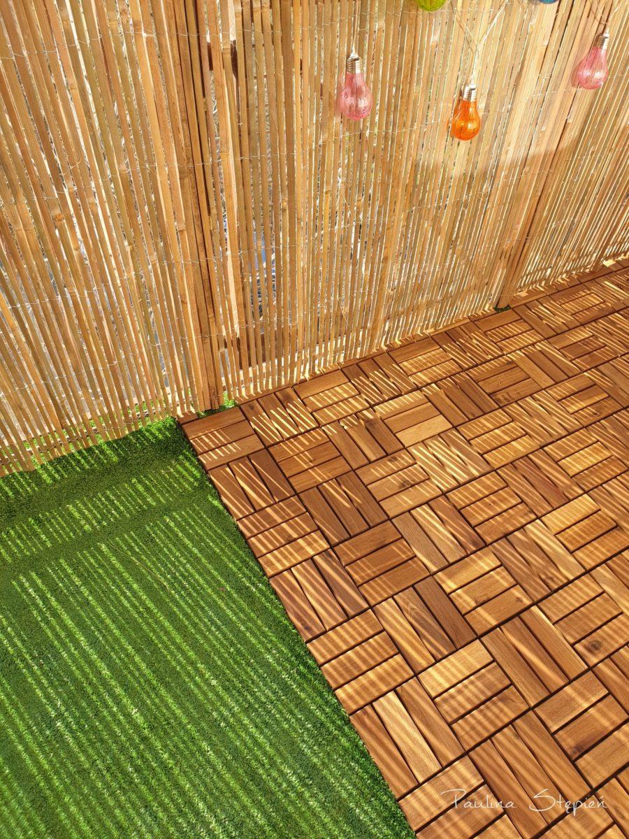 I tutaj już nowa wersja, z trawą sztuczną i podestem drewnianym