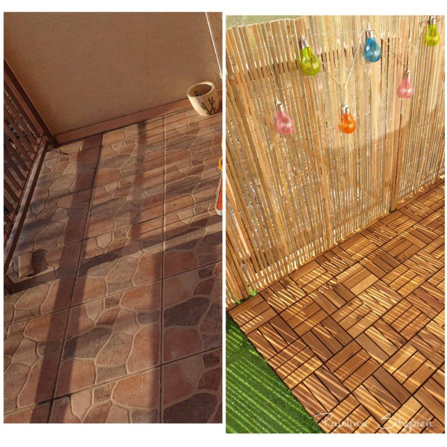 Tutaj widać podłogę przed i po prawej PO zmianie