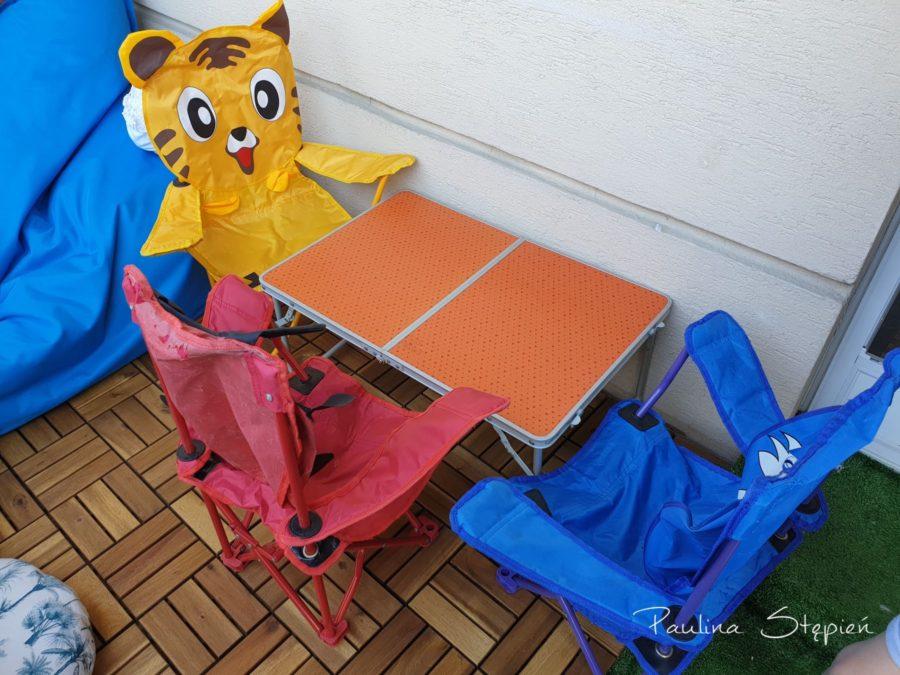 Składany stolik i krzesełka dla chłopców