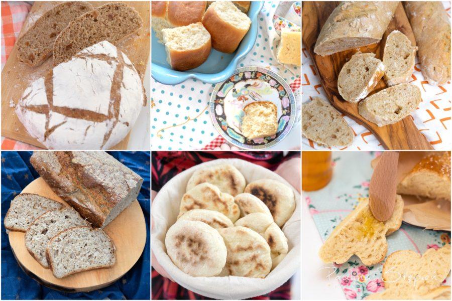 To tylko 6 przepisów, a zobacz, jak są różnorodne. Bułeczki, chleby na zakwasie, na drożdżach i bez niczego