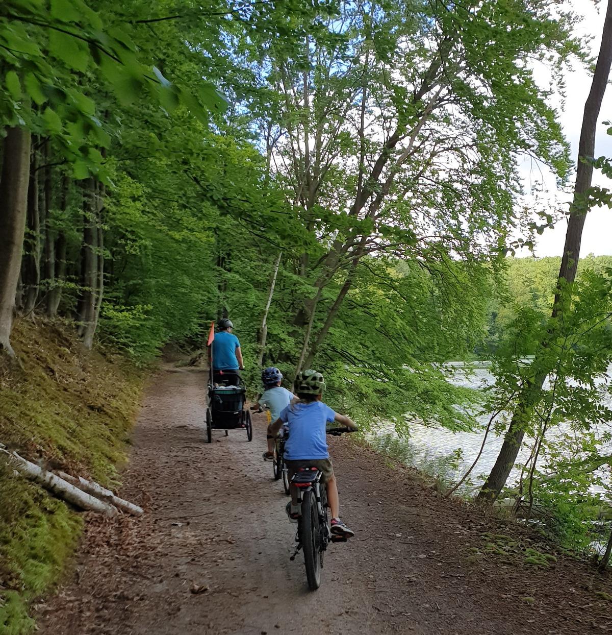 Trasa rowerowa wokół jeziora Łagowskiego