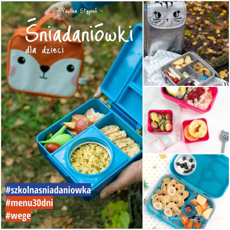 """Ebook """"Śniadaniówki dla dzieci"""" i kilka przykładowych zdjęć z środka"""