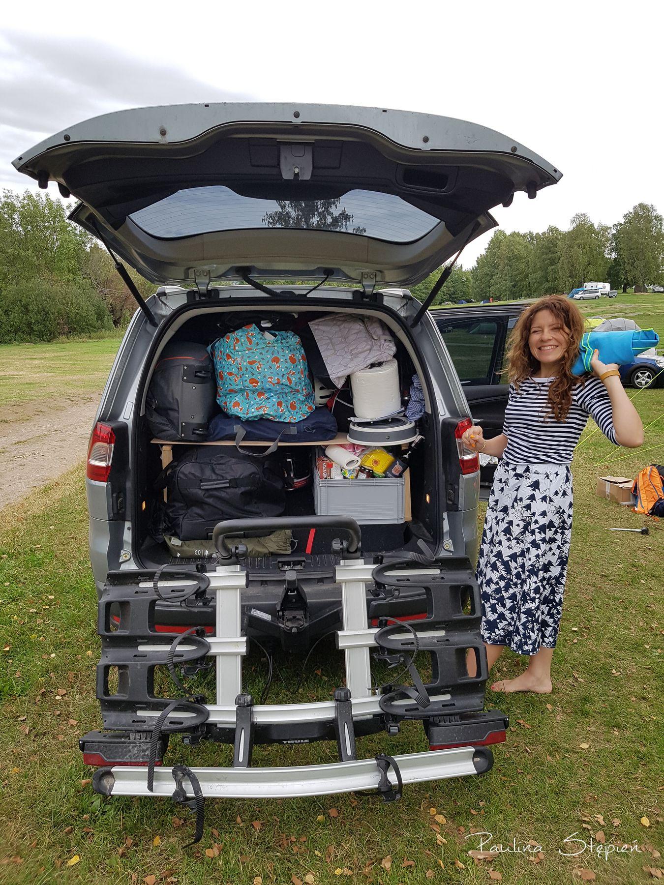 Nasz samochód spakowany na wakacje do Szwecji, w sumie bagażnik rowerowy też był :)