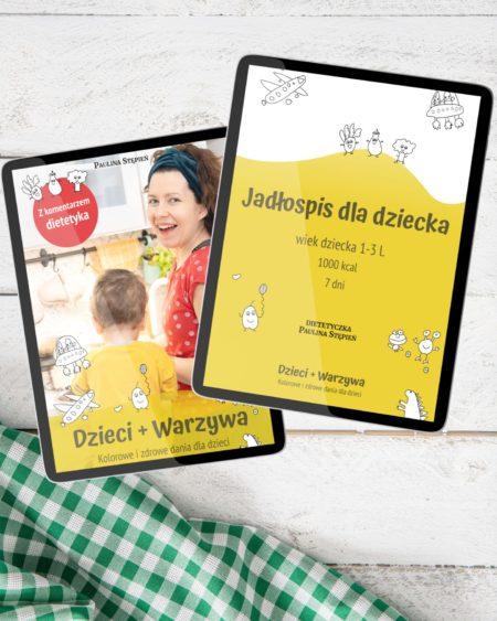 Jadłospis dla dzieci oraz ebook Dzieci + warzywa